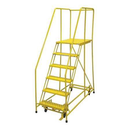 - COTTERMAN 1006R2630A3E30B4C2P6 Rolling Ladder,Steel,90In. H.,Yellow G0996996