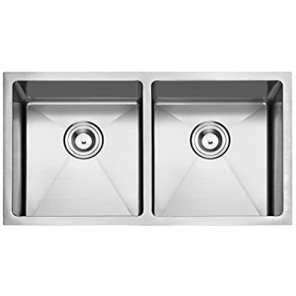 primart handcrafted stainless steel 33 inches undermount double equal bowls 16 gauge kitchen sink primart handcrafted stainless steel 33 inches undermount double      rh   walmart com