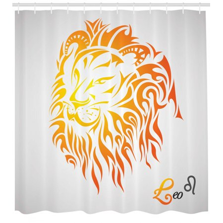 Astrology Shower Curtain Leo Zodiac