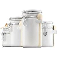 Anchor Hocking 4pc White Ceramic Canister Set