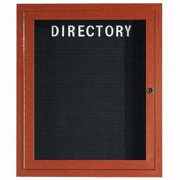 Aarco Products OADCW3630R Outdoor Enclosed Aluminum Directory Cabinet - Cherry