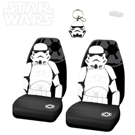 Star Wars Stormtrooper 3PC Car Seat Covers With Keychain Set - Free Shipping