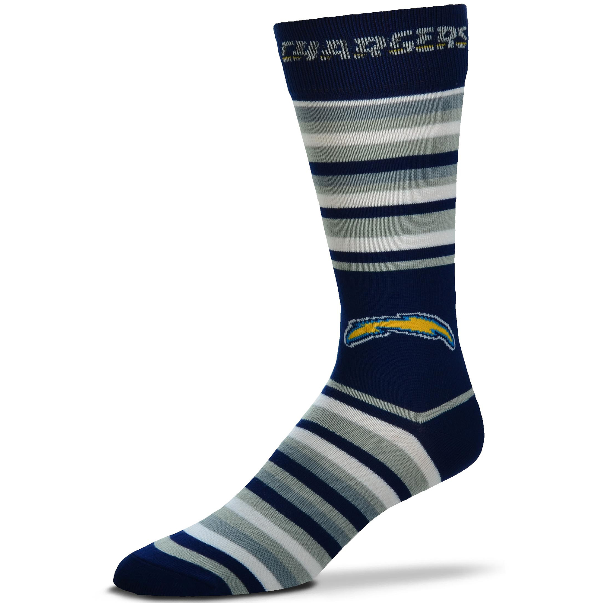Los Angeles Chargers For Bare Feet The Boss Socks - No Size