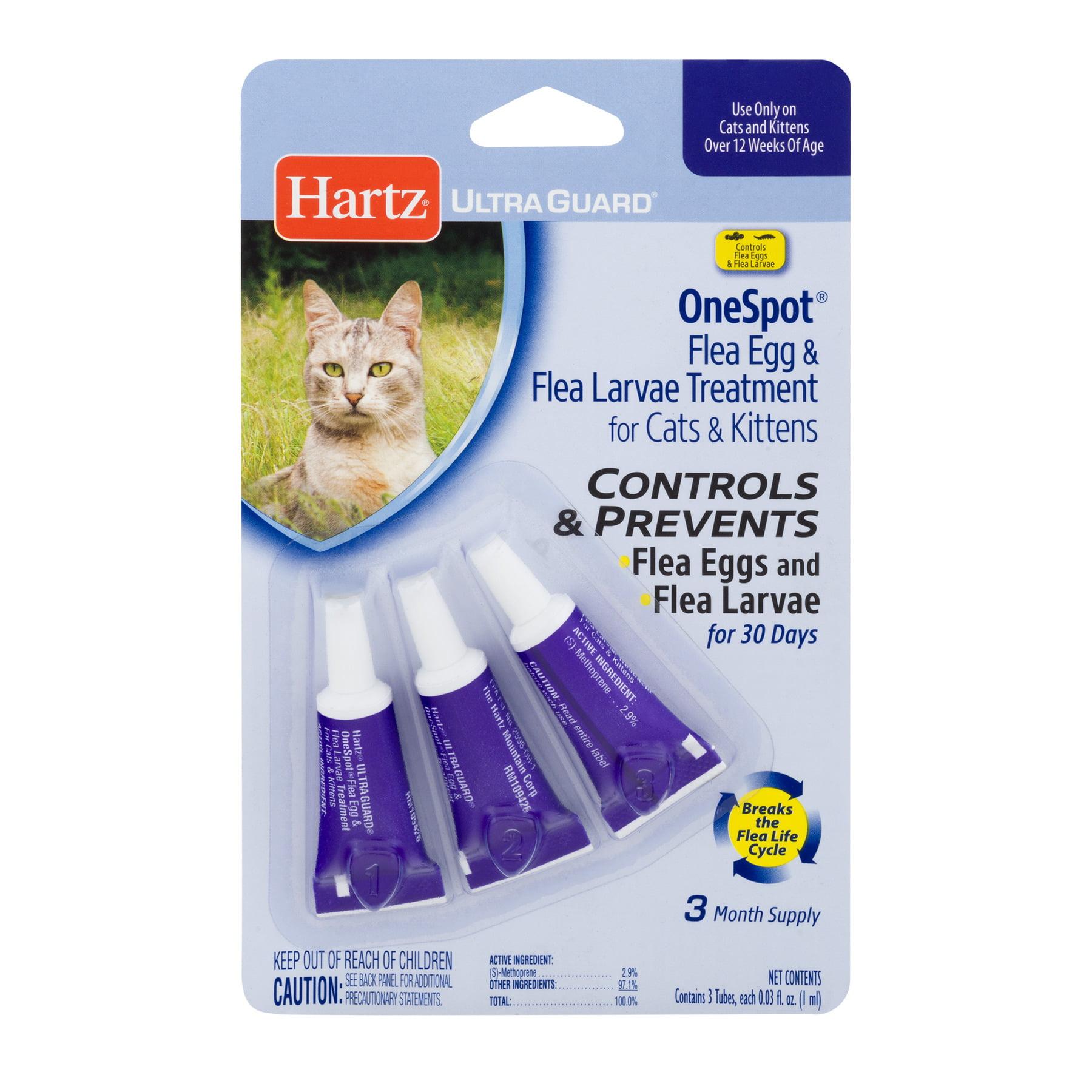 Hartz UltraGuard One Spot Flea Egg & Flea Larvae Treatment for Cats & Kittens, 0.03 oz, 3 count