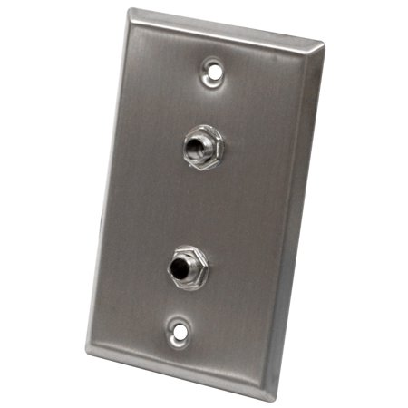 Seismic Audio  - Stainless Steel Wall Plate - Dual 1/4