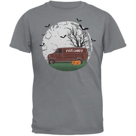 Halloween Free Candy Van Storm Grey Adult T-Shirt](Fred Halloween)