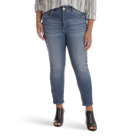 Women's plus high rise skinny ankle jean