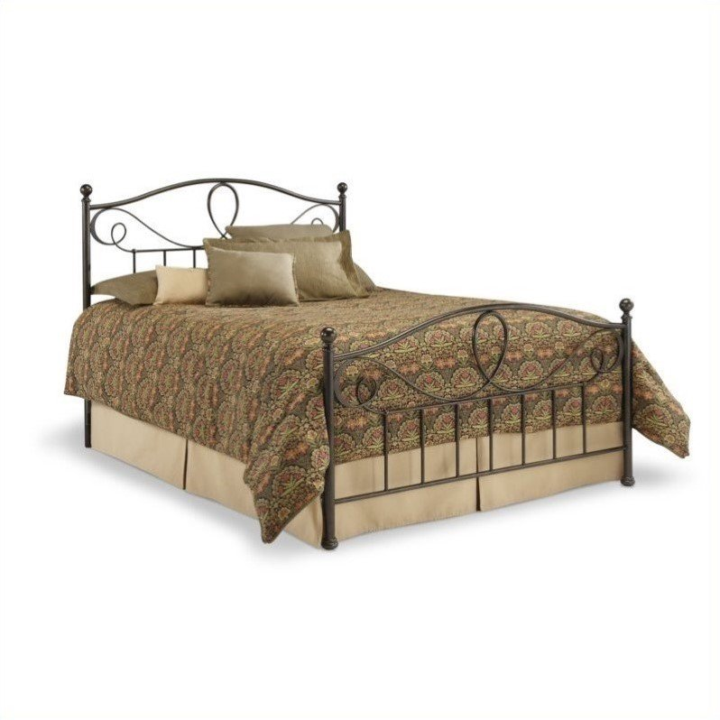 Fashion Bed Sylvania Metal Poster Bed in French Roast by Fashion Bed