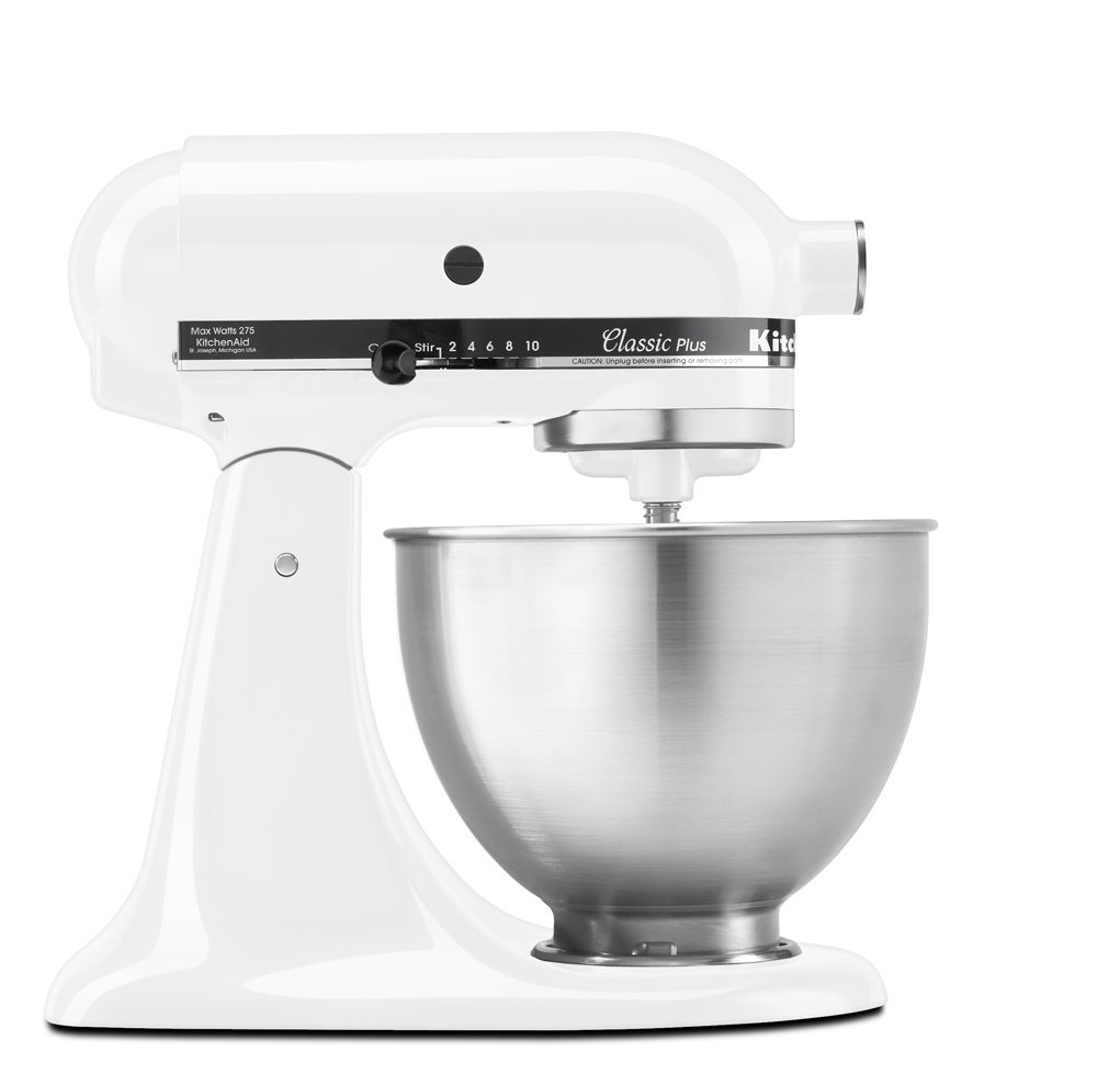 KitchenAid KSM75WH Classic Plus Series 4.5-Quart Tilt-Head Stand Mixer,  White - Walmart.com
