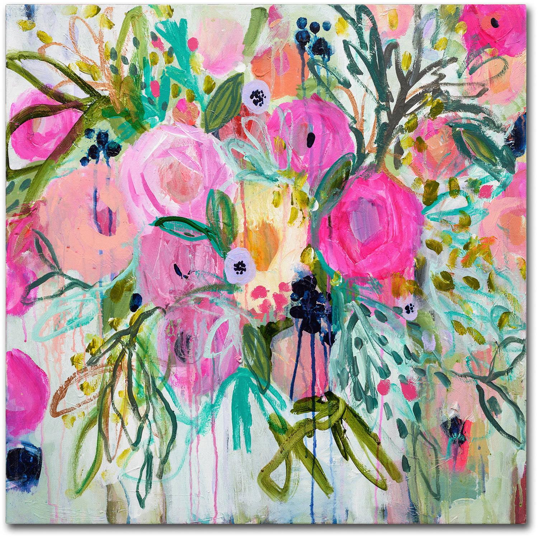 """Trademark Fine Art """"Rose Burst"""" Canvas Art by Carrie Schmitt"""