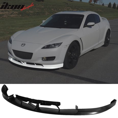 Compatible With 04 07 Mazda Rx8 Rx 8 4dr Oe Style Front Bumper Lip Spoiler Urethane Pu Walmart Com Walmart Com