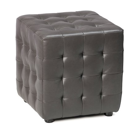 Miraculous Cortesi Home Moda Tufted Cube Bonded Leather Ottoman Theyellowbook Wood Chair Design Ideas Theyellowbookinfo
