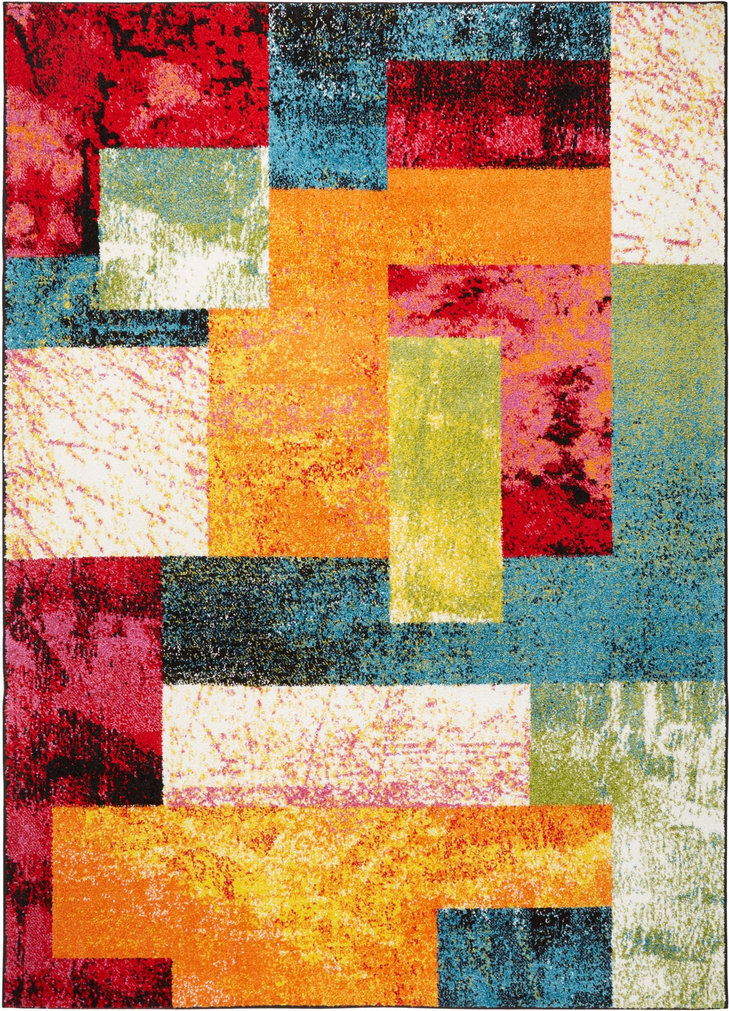 Home Dynamix Splash Geometric Patchwork Colorful Area Rug