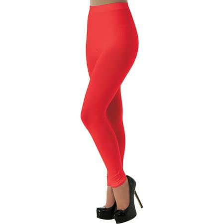 Women's Red 80s Rave Party Ballerina  Costume Leggings