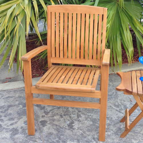 Chic Teak Belize Teak Patio Dining Chair