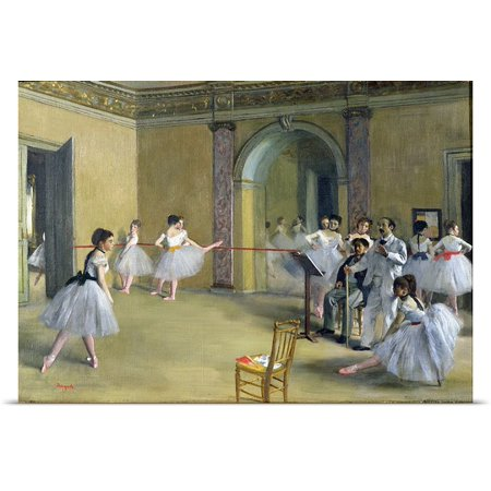 Great Big Canvas Edgar Degas Poster Print Entitled The Dance Foyer At The Opera On The Rue Le Peletier  1872