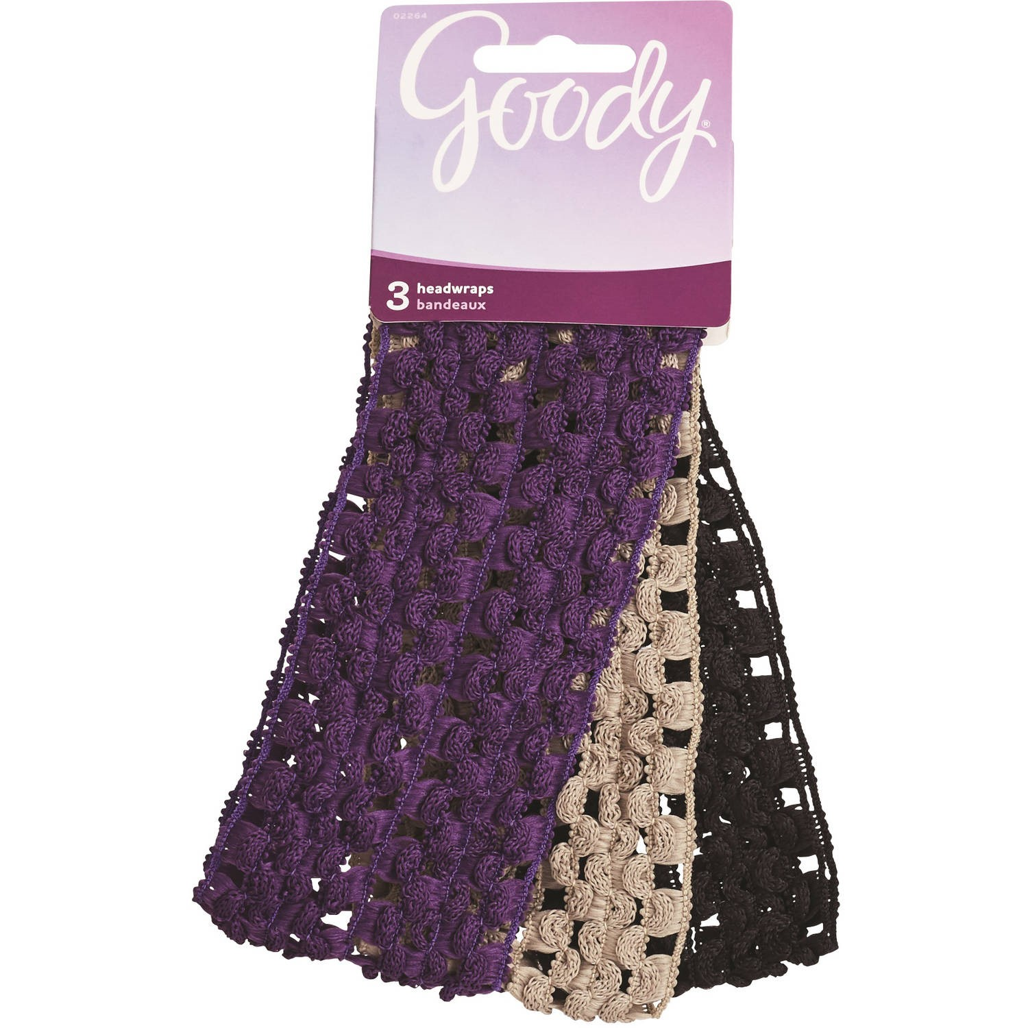 Goody Styling Essentials Ouchless Headwrap, Crochet, 3 Count