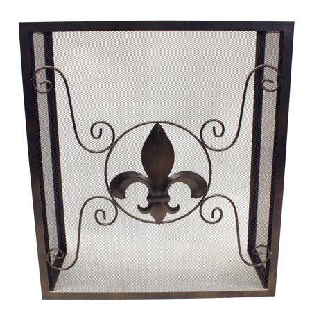 Leigh Country Fleur De Lis Fireplace Screen Elk Rustic Fireplace Screen