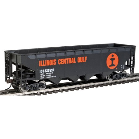 Walthers Trainline HO Scale Offset Hopper Train Car Illinois Central/IC (Illinois Central Hopper)