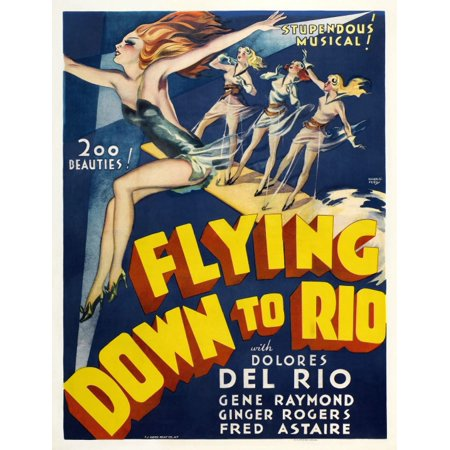 Flying Down To Rio Movie Fred Astaire Ginger Rogers Poster Print (8 x 10)
