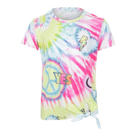 Girls` Tie Knot Tennis Tee Peace and Love (Lucky In Love Tennis Into The Woods)