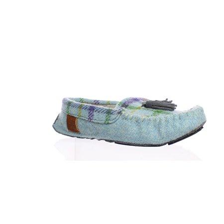 Bedroom Athletics Womens Zara Blue Moccasin Slippers Size 5](Belle Slippers)