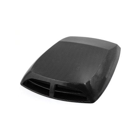 1 Carbon Fiber Hood - Car Carbon Fiber Pattern Decorative Air Flow Intake Hood Scoop Bonnet Vent Cover