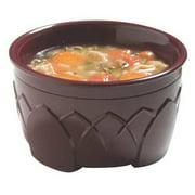 Carlisle Dinex Insulated Bowl, 9 oz., Urethane Foam Cranberry PK48, DX530061