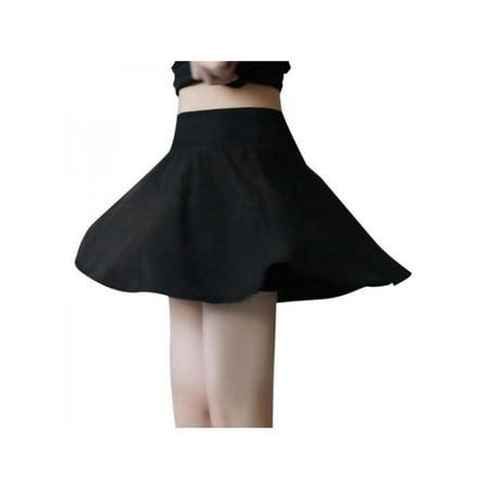 Lavaport 2 Layers Women Girl Tennis Sport Shorts High Waist Pleated Mini Skirt