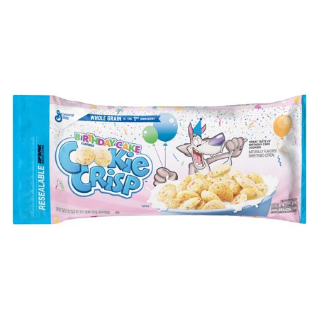 21st Birthday Cookies - Cookie Crisp Birthday Cake Bagged Cereal, 35 oz Bag