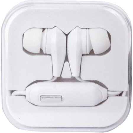Travelocity Tvor Sthf Bw Stereo Earbuds With Microphone