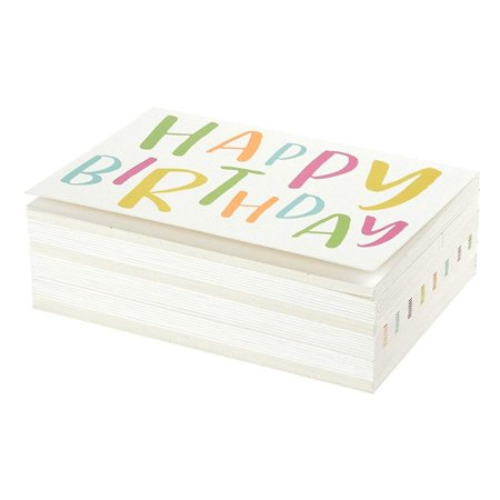 Sustainable Greetings 144-Pack Blank Happy Birthday Cards Bulk Box Set, 6 Assorted Designs, Envelopes Included, 4 x 6 Inches - image 6 of 8