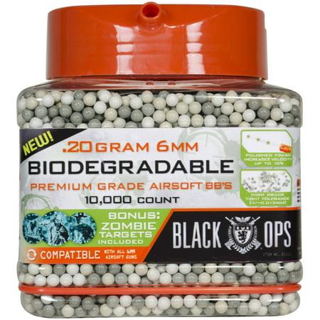Black Ops Biodegradable Premium Grade Airsoft BBs 10,000 ct Pail