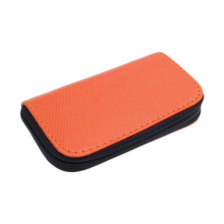 Nylon 22 Slots Storage Carrying Pouch Case Orange for CF Micro SD Memory (Memory Card Pouch)