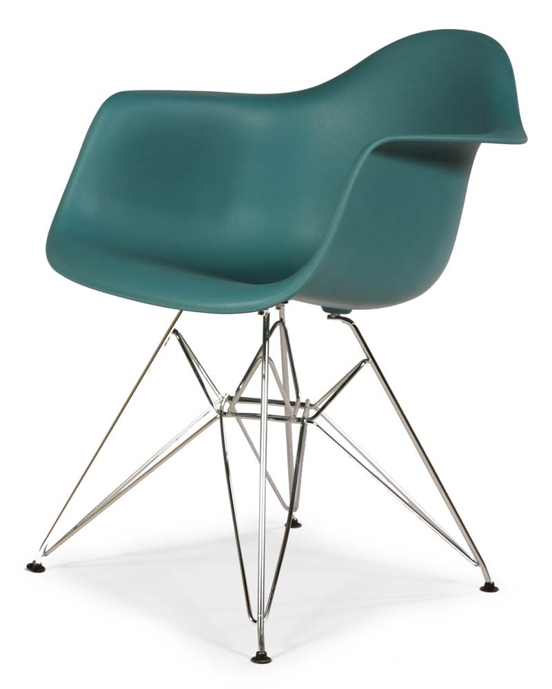 Mid-Century Eiffel Dining Armchair Navy Green by Stilnovo