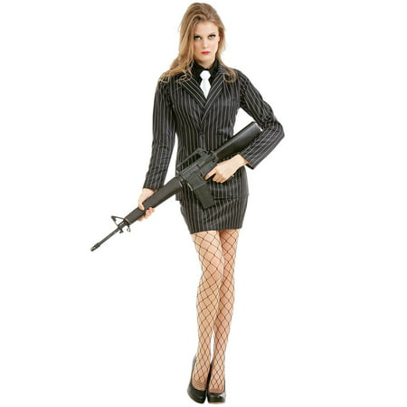 Boo! Inc. Dangerous Dame Women's Halloween Costume | Classic 1920s Gangster Outfit - 1920s Outfits Men