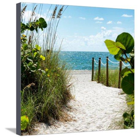 Boardwalk on the Beach - Miami - Florida Stretched Canvas Print Wall Art By Philippe Hugonnard - Miami Beach Florida Framed Art