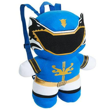 Plush backpack power rangers blue mega force 16 for Schoolboy q girl power shirt