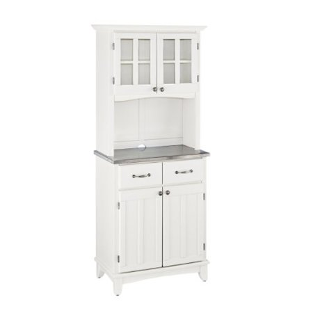 home styles 5001-0023-22 buffet of buffet 5001 series stainless top buffet server and hutch, white, 29-1/4-inch (Hutch And Server)