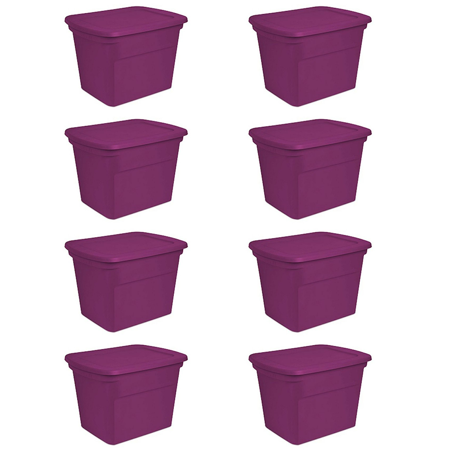 The 8 Pack Of Sterilite 18 Gallon Totes ...