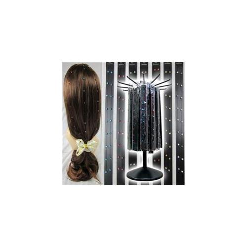 Deluxe Import 114-77427HE Invisible Hair Gems - 144 Packs