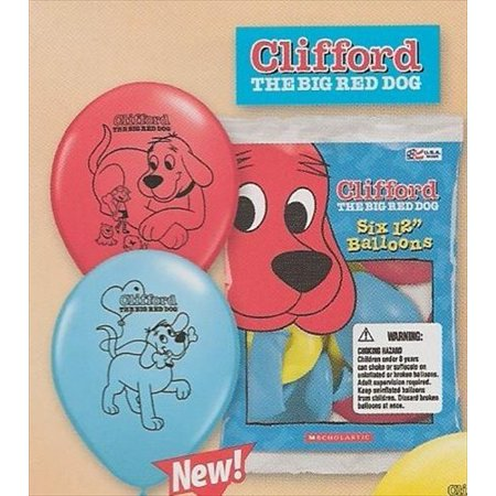 Clifford The Big Red Dog Latex Balloons 6ct Walmartcom