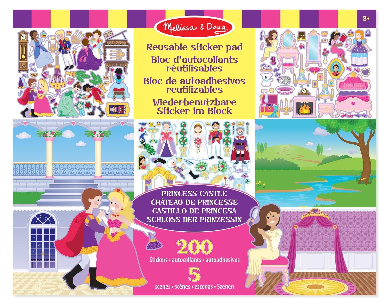 MELISSA /& DOUG Réutilisables Autocollant Pad-princesscastle