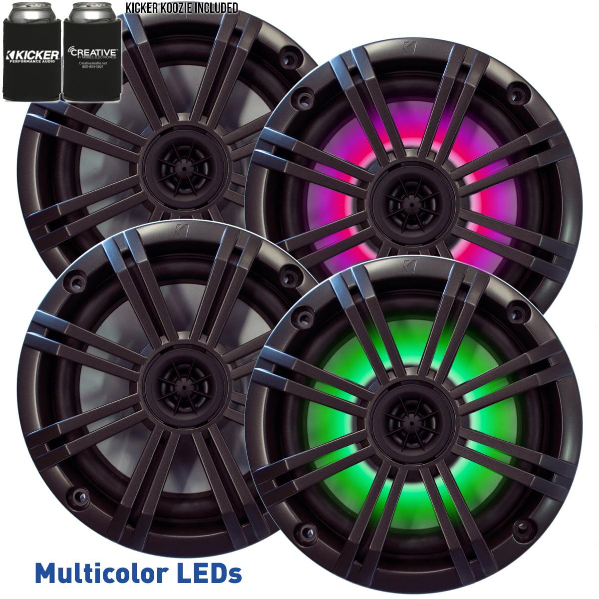 Kicker 6.5 Silver LED Marine Speakers Qty 2 1 Pair of OEM Replacement Speakers
