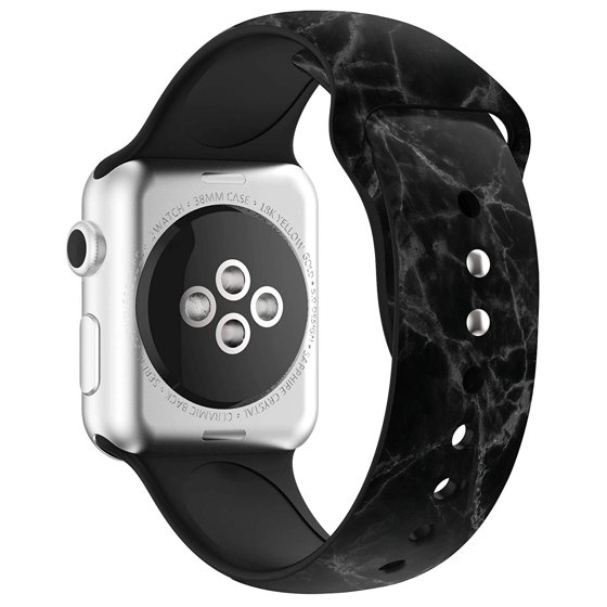 Apple Watch Premium Bands 44mm with Full Body Clear Hard Case Temper Glass  Screen Protector Soft Silicone Wristband for Apple Watch Series 1/2/3/Nike+
