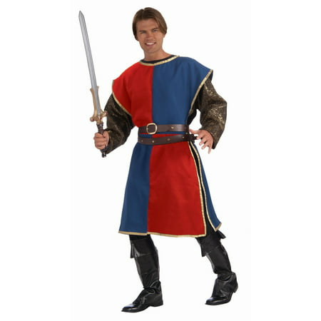 Halloween Medieval Tabard - Blue/Red Adult Costume - Medieval Banquet Halloween