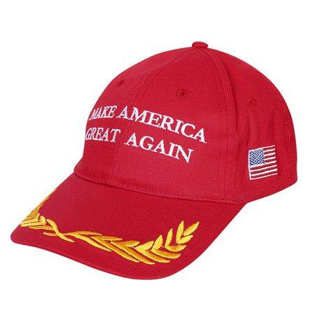 Make America Great Again Hat MAGA Hat Red Donald Trump Hat United States President Hat Slogan Hat Maga Red Olive Branch Military Style Baseball Cap