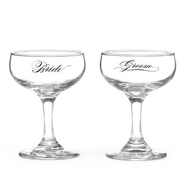 Elegant Calligraphy Champ Glasses