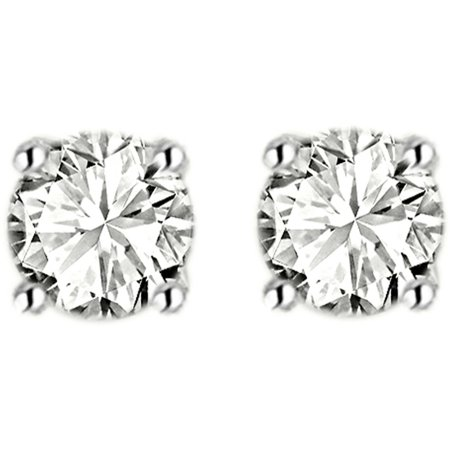 1/2 Carat T.W. Diamond 14kt White Gold Stud Earrings