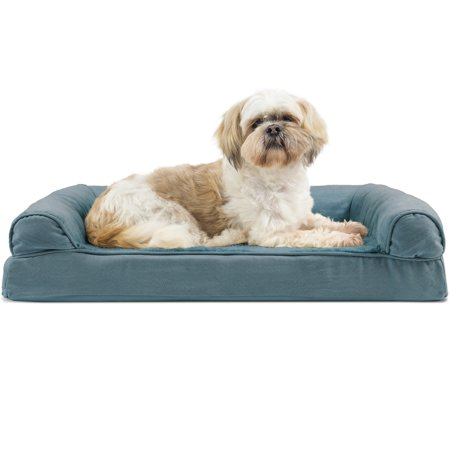 FurHaven Pet Dog Bed | Orthopedic Ultra Plush Sofa-Style Couch Pet Bed for Dogs & Cats, Deep Pool, Medium